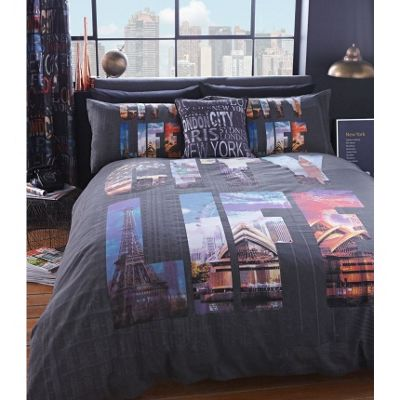 Catherine Lansfield City Life Duvet Cover Set - King