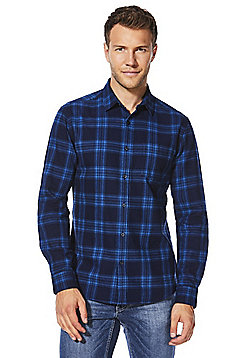 F&F Checked Flannel Shirt - Navy