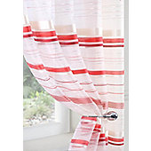 Metropole Voile Curtain Panel - Red