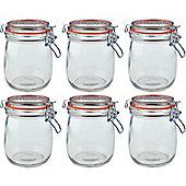 Argon Tableware Preserving / Biscuit Glass Storage Jars - 750ml - Pack of 6