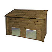 Ridlington wooden double coal bunker