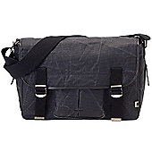 OiOi Man Nappy Change Bag -Satchel Black Wax Canvas (6573)