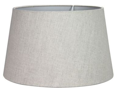 15 inch Linen Empire Lamp Shade Natural Dual Fitting