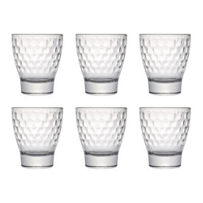 Honeycomb Tumbler Glass, 280ml, Set of 6