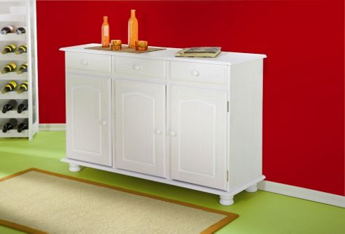 Aspect Design Livio Solid Pine Sideboard in White