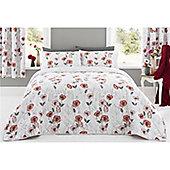 Dreams n Drapes Fliss Bedspread - 230x195cm - Red