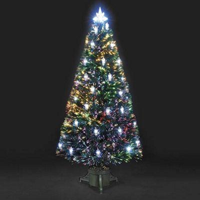 - 5ft Colour Changing Lantern Fibre Optic Christmas Tree