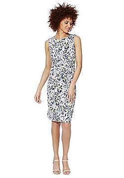 Yumi Floral Print Jersey Dress - White