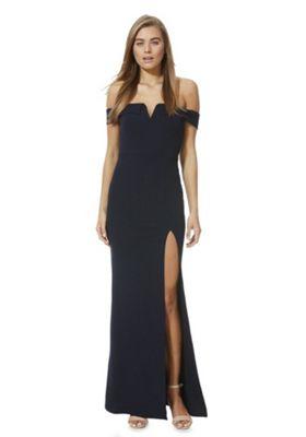 AX Paris Bardot Maxi Dress Navy 14