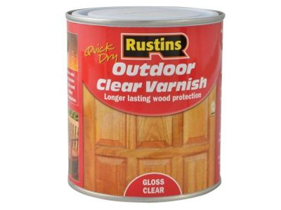 Rustins EAVG500 500ml Outdoor Varnish Gloss - Clear