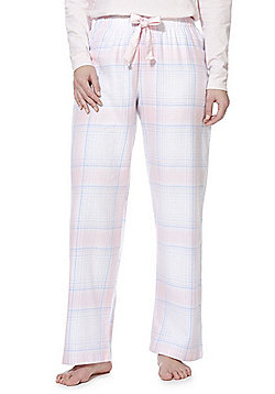 F&F Checked Flannel Lounge Pants - Light pink