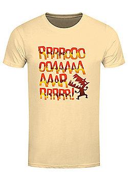 The Angry Dinosaur Men's T-shirt, Haze Yellow - Yellow