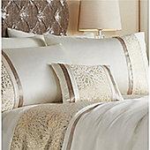 Catherine Lansfield Luxor Jacquard Gold Boudoir Cushion 30x40cm