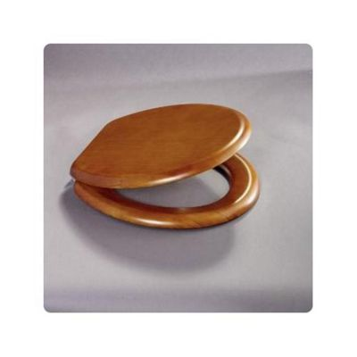 Bemis 9300 CP ANTIQUE PINE Moulded Wood Toilet Seat and Cover with Adjustable Chrome Plated Brass Bar Hinge