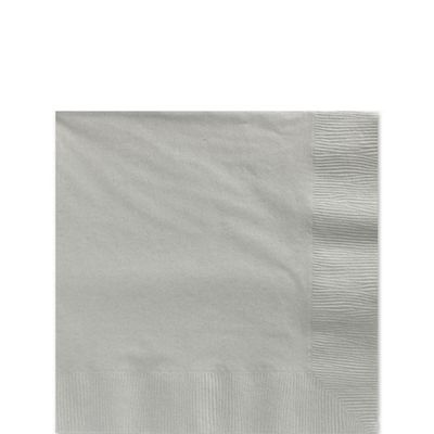 Silver Beverage Napkins - 2ply Paper - 20 Pack