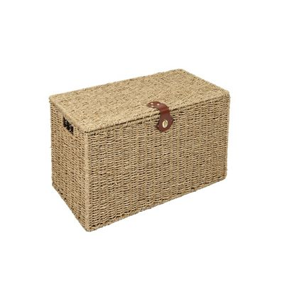 Woodluv Natural Seagrass Laundry Storage Basket - Small