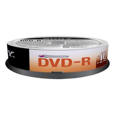 Sony 10DMR47SP DVD-R 16x recordable storage 10-pack