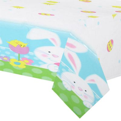 Easter Bunny Plastic Tablecover - 1.4m x 2.13m