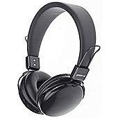 Groov-e GVBT500BK Rhythm Wireless Bluetooth or Wired Stereo Headphones - Black