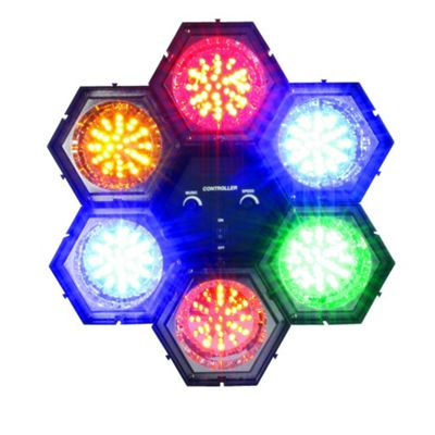6 LED Disco Party DJ Pod Lights Sound Activated Set