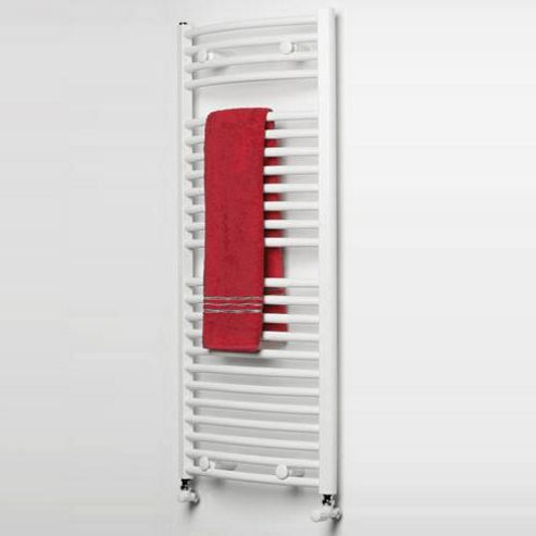 Ultraheat Chelmsford Curved White Ladder Towel Rail 900mm High x 420mm Wide