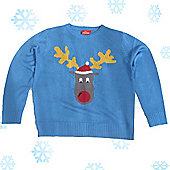 Christmas Jumper - - Blue