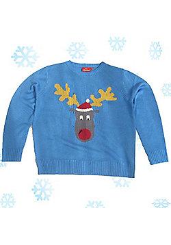 Christmas Jumper - - Blue