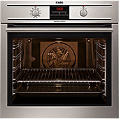 AEG BP3003001M 600mm Built-In Single Electric Oven, Stainless Steel