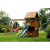 Selwood Belton Climbing Frame With Slide, Monkey bars & Swings