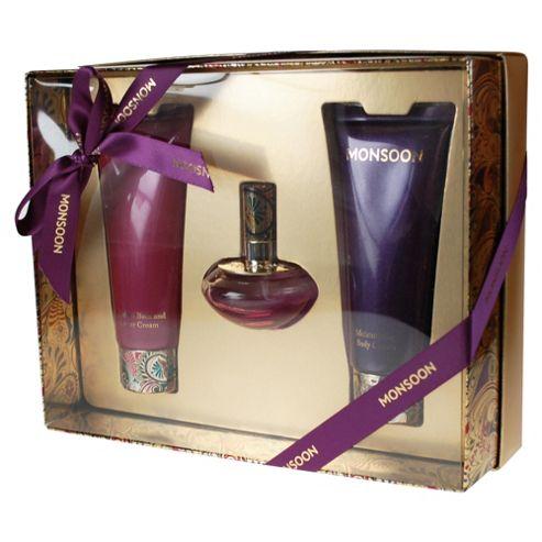 Monsoon 30ml EDT Spray, 100ml Body Cream & Bath and Shower Cream Gift Set