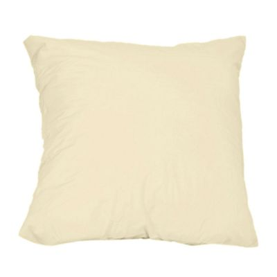 Homescapes Cream Continental Large Square Pillowcase 100% Egyptian Cotton Pillow Cover 200 TC, 80 x 80 cm