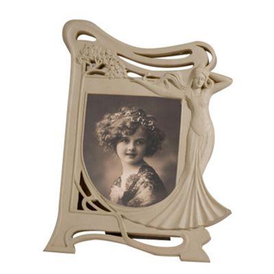 Art Nouveau Cream Clay Paint Photo Frame