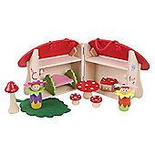 Bigjigs Toys Mini Mushroom House Playset