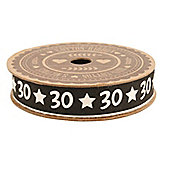30th Birthday Gift Wrapping Ribbon
