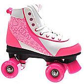 Luscious Retro Quad Roller Skates - Strawberry Kisses - Pink