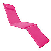 Pink Water Resistant Outdoor Garden Cushion Pad ONLY for Steamer Recliner Chair