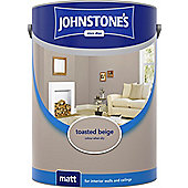 Johnstone's 304060 Vinyl Matt Emulsion - Toasted Beige 5 litre