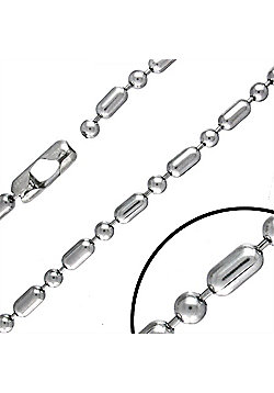 Urban Male Modern Stainless Steel 10mm Military Link Chain 24in Long