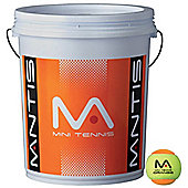 Mantis Mini Tennis Stage 2 Orange Tennis Balls - 72 Ball Bucket