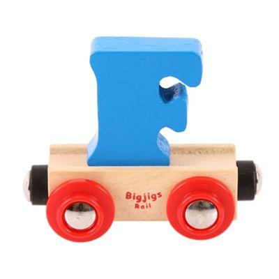 Bigjigs Rail Rail Name Letter F (Blue)