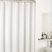 Catherine Lansfield Satin Stripe Shower Curtains in White