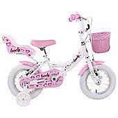 """Hacker Lovely Girls 14"""" Wheel Bike White"""