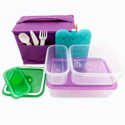 Children's Purple Lunch Box Kit, Children's Lunch Kit, Kids Lunch Set