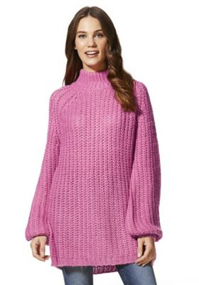 Vero Moda Chunky High Neck Jumper M Pink