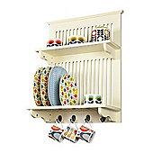Aston Kitchen Plate Rack - Buttermilk - wall mounted
