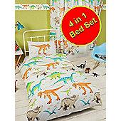 Dinosaur World 4 in 1 Junior Bedding Bundle Set