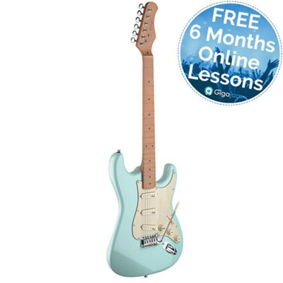 Stagg SES50M S Series Vintage Electric Guitar - Blue – with 6 Months Free Online Music Lessons