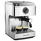 Andrew James Barista Espresso Coffee Maker in Silver