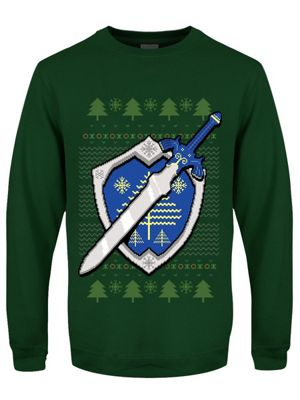 The Master Sword Bottle Green Men's Christmas Jumper