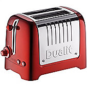 Dualit 2 Slot Lite Metallic Red Peek N Pop Toaster